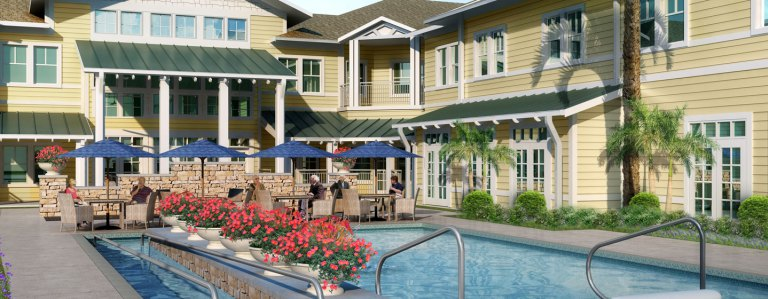 The new state-of-the-art, resort-style community will offer area seniors a maintenance-free